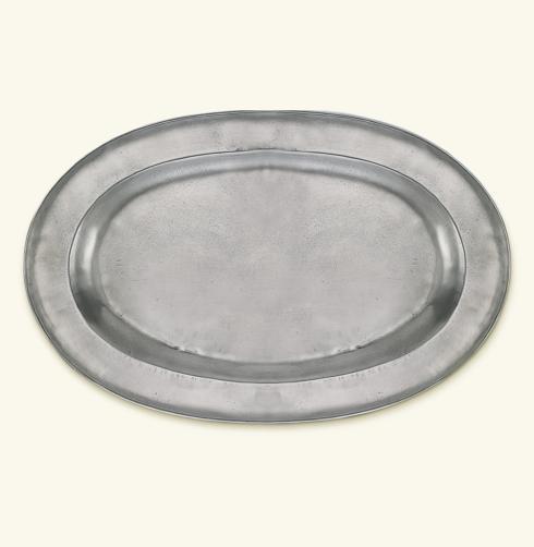 $430.00 Antique Wide Rimmed Oval Platter