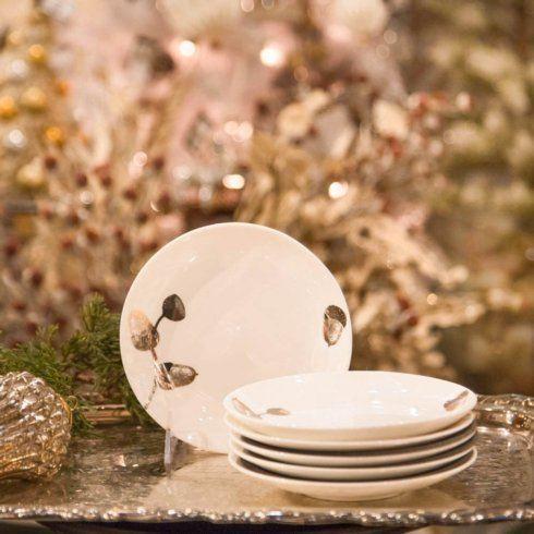 Timothy De Clue   Gold Acorn Canape Plates $135.00