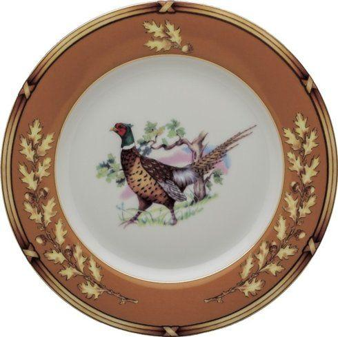 Timothy De Clue   Julie Wear American Wildlife Pheasant Salad Plate $68.00