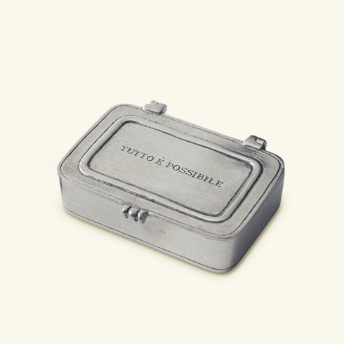 """$120.00 """"Tutto e Possibile"""" Pewter Box Small"""