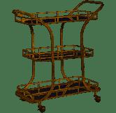 $415.50 Bar Cart Stassi Gold