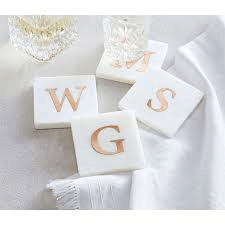$22.00 Coaster Marble Initial H