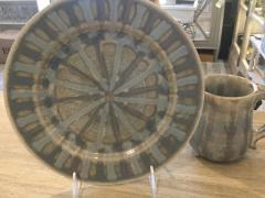 Good Earth Pottery   Bowl Gumbo Grey Herron $47.00