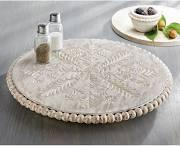 Lazy Susan Beaded White Washed collection with 1 products