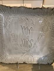 $118.00 TRAY MR AND MRS