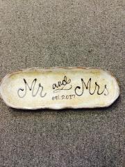 $57.50 Tray Mr & Mrs  Birch