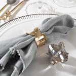 Saro Designs   Napkin Ring - Classic - Silver $7.00