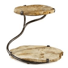 $345.00 Two Tiered Petrified Wood