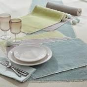 $10.00 Placemat Frayed Edge Blue Mist