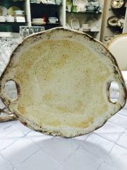 Etta B Pottery   Platter Rd Open Handles Birch $73.00