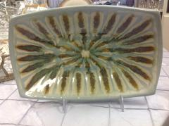 Good Earth Pottery  Teal Bowl Rectangle $100.00