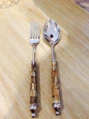 Primitive Artisan   Salad Server Oyster Bay $39.50
