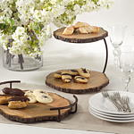 Wood Server 2-Tier collection with 1 products