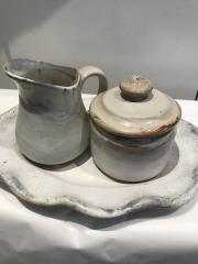 Etta B Pottery   Sugar Bowl Charming White $42.00