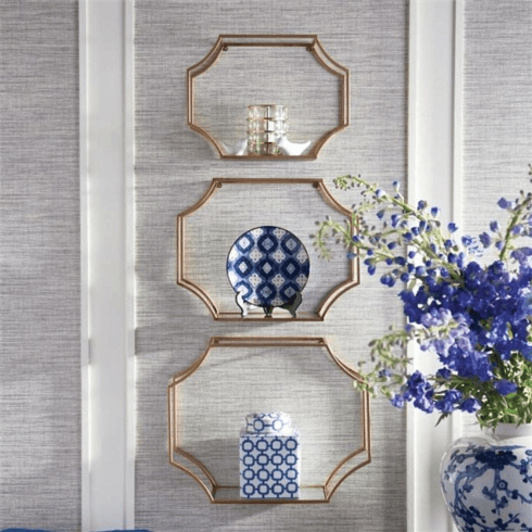 Wall Shelf Hudson Gold Lg collection with 1 products