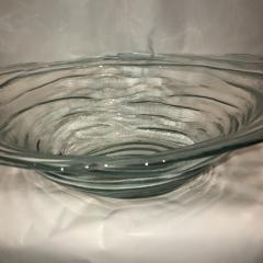 $48.00 Bowl Tinted Glass Blue