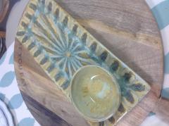 Good Earth Pottery  Nightingale Bread Tray $110.00