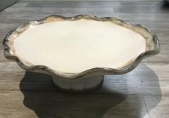 Etta B Pottery   New Cake Stand Magnolia $150.00