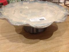 Etta B Pottery   Cake Stand Opal Gray $136.50