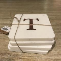 $22.00 Coasters Set of Four Initial T