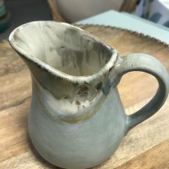 Etta B Pottery   Creamer Peaceful Waters $40.00
