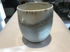 Etta B Pottery   Stemless Wine Peaceful $37.50