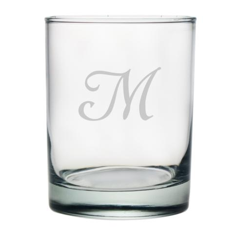 Susquehanna Glass   Double Old Fashioned Glass w/monogram $60.00