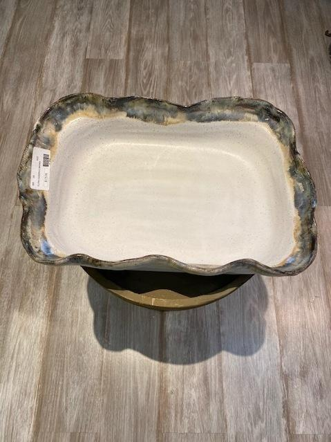 Etta B Pottery   Fluted Casserole Magnolia $175.00