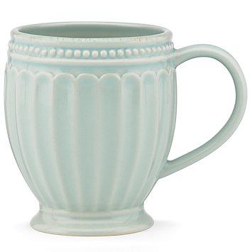 Lenox  French Perle Groove - Ice Blue Mug $10.00