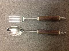 $46.00 Salad Servers Fruitwood