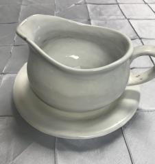 $62.00 Gravy Boat W/ Saucer Simply White