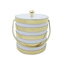 Ice Bucket Wh/Gold Bands collection with 1 products