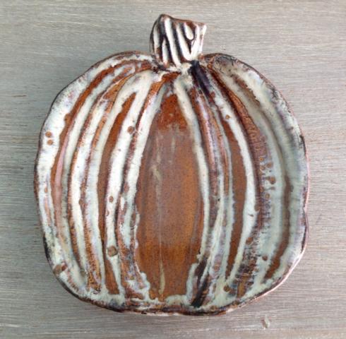 Etta B Pottery   Pumpkin Salad Plate - Brown $48.50
