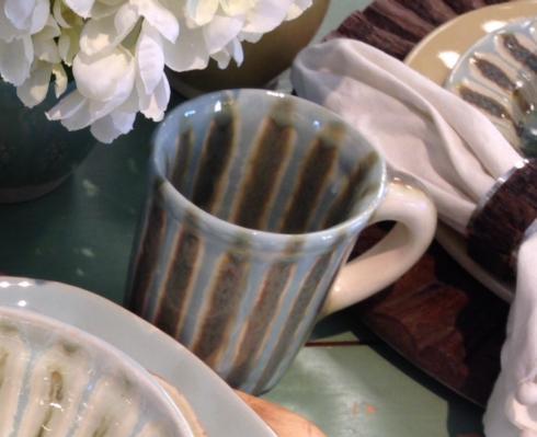 Good Earth Pottery  Teal Mug $28.00