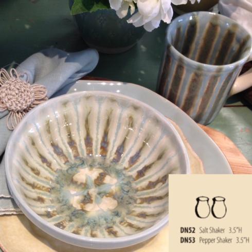 Good Earth Pottery  Teal Salt Shaker $30.00