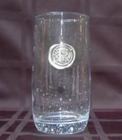 Southern Jubilee   Iced Tea Glass with Initial $16.50