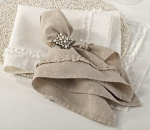 $14.00 Napkin Ruffle Design - Natural