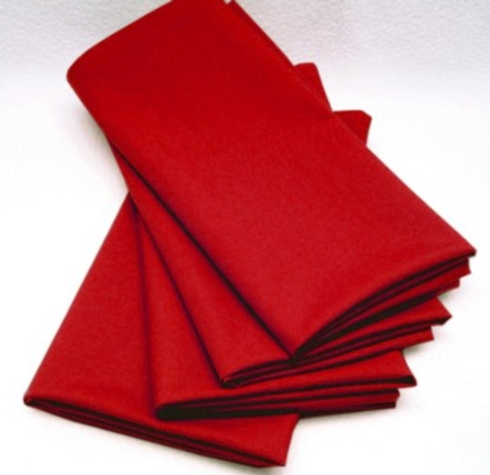 $5.50 Napkin - Cotton Ruby Red