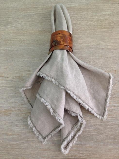 $14.00 Napkin with Fringe - Natural