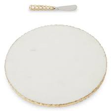 Marble Cheese Board/Gold edge collection with 1 products
