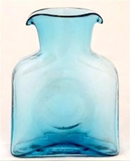 Blenko Glass Co   Mini Water Bottle - Bermuda Blue $40.00