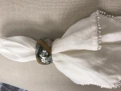 Bodrum   Napkin Ring Shell Twist $21.50