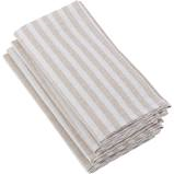 Saro Designs   Napkin Stripe - Natural $4.00