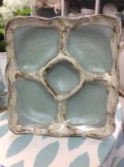 Etta B Pottery   Party Platter Peaceful Waters $150.00