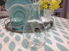 Trade Associates Group  Bubble Glass Pitcher w/ Open Hndl $48.00