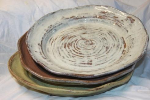$143.00 Platter Round Large - Opal Gray