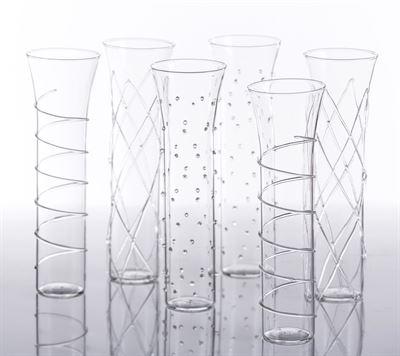 Abigails   Champagne Glass - Razzle $14.00