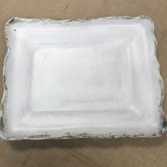 $148.00 Platter Lg Rec Charming White
