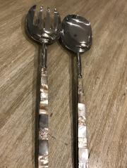 $50.50 Salad Servers Silver Pearl