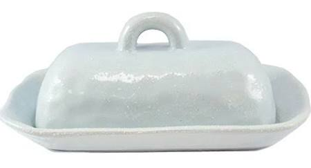 Creative Co-op   Butter Dish Covered Blue $13.50